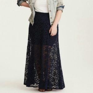 Torrid Lace Maxi Skirt